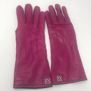 Coach leather cashmere lined sz 7 gloves